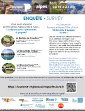 Affiche de l'enquête de clientèle touristique régionale