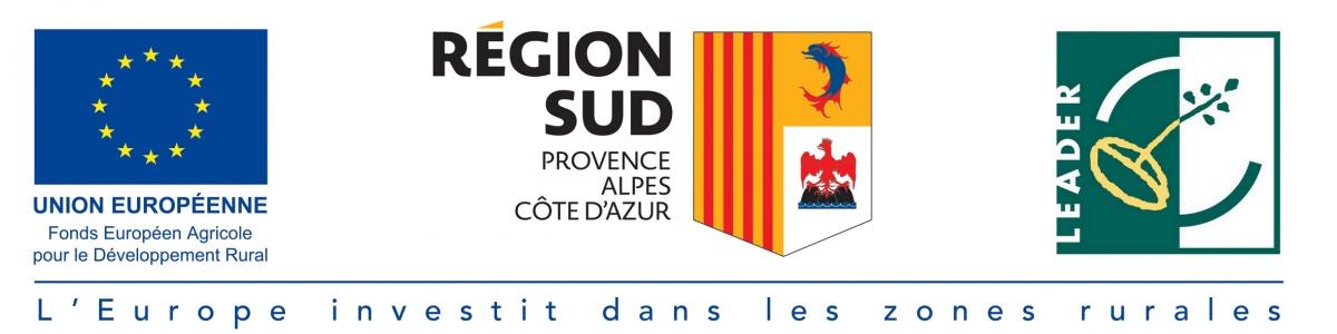 logo FEADER LEADER Région Sud Provence Alpes Côte d'Azur destinations infrarégionales