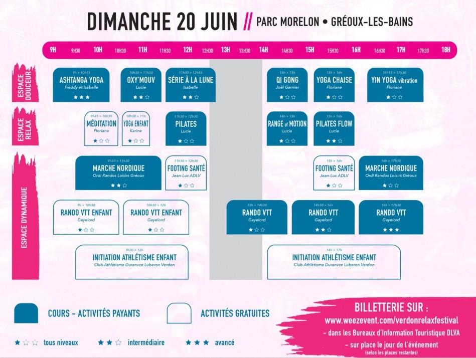 Programme Verdon Relax Festival #3 à Gréoux-les-Bains