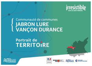 portrait de territoire de la Communauté de Communes Jabron Lure Vançon Durance