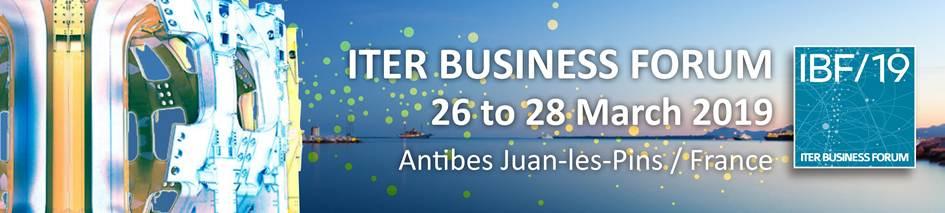 ITER Business Forum les 26, 27 et 28 mars 2019