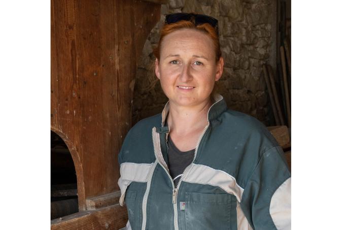 Sandrine FAUCOU, Cultivatrice de Petit Épeautre, Vachères