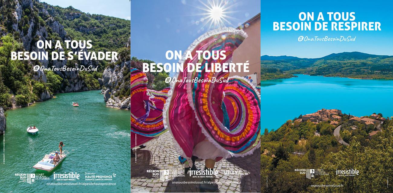 Campagne d'affichage et plan média de relance touristique