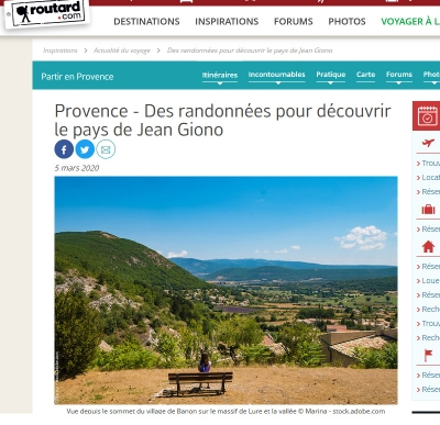 Routard article Jean Giono