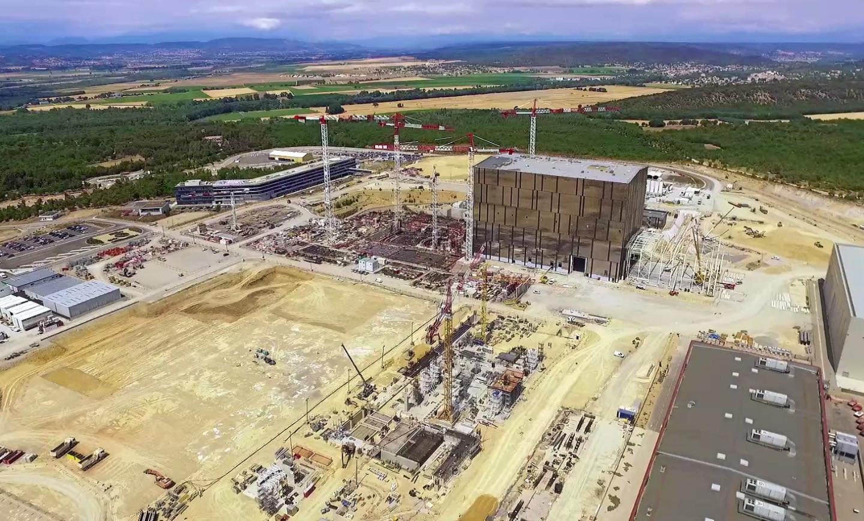 Vue du chantier ITER au 12 Septembre 2016