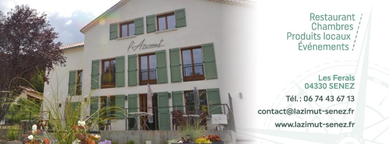 Implantation de L'Azimut, Gîte Restaurant à Senez