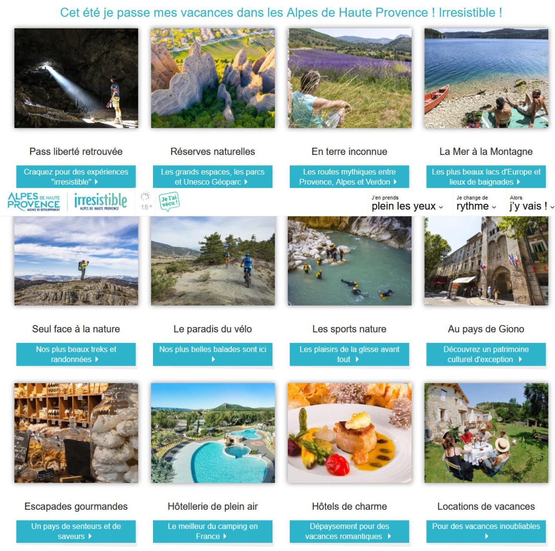 nouvelles thématiques site tourisme