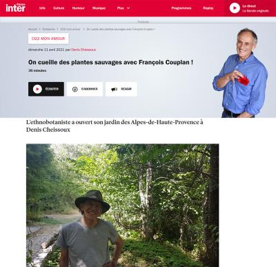 On cueille des plantes sauvages avec François Couplan ! par Denis Cheissoux