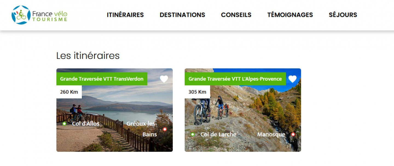 Les Grandes Traversées VTT sur France Vélo Tourisme