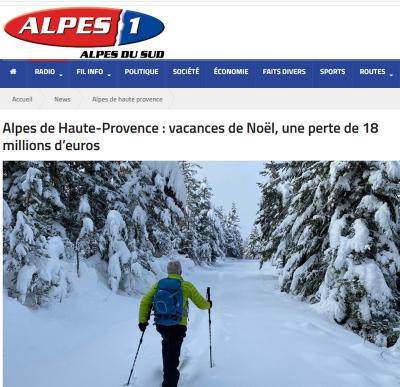 Alpes 1  Alpes de Haute-Provence : vacances de Noël