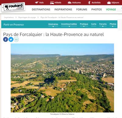 Pays de Forcalquier : la Haute-Provence au naturel par Olivia Le Sidaner Le Routard